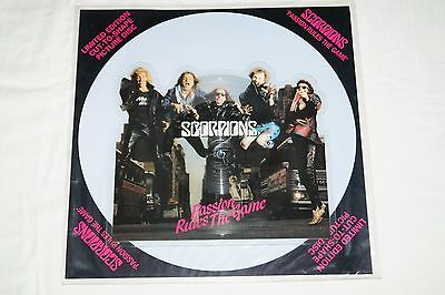 """Scorpions – Passion Rules The Game, 7"""" Shape Picture Disc, UK 1988, vg++"""