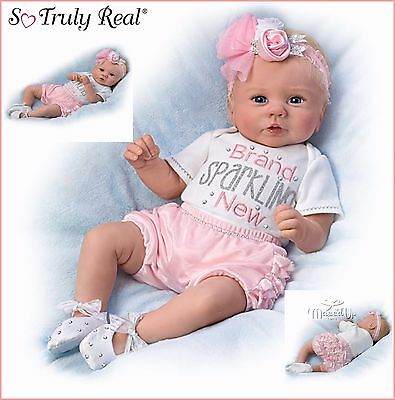 Ashton Drake Kaylies Brand Sparkling New poseable and weighted baby doll