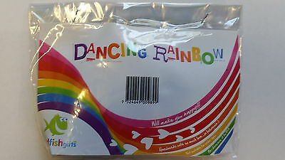 Dancing Ribbons Rainbow Ribbon On Wooden Ring With Bell