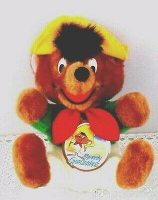 wb Speedy Gonzales Stuffed Plush '91 W/Tag Warner Brothers Looney Toons 9.5""