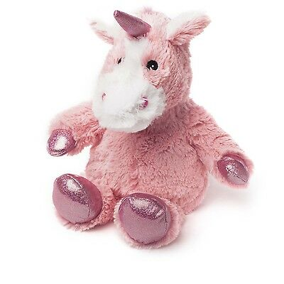 Intelex Cozy Plush Pink Sparkly Unicorn Fully Microwavable Heatable Bed Time Toy
