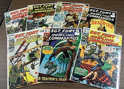 Sgt Fury Lot, Issues 72-78, Nm- (9.2), 1970's Marvels, 7 Books Total, High Grade