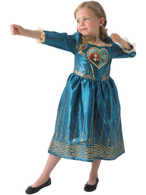 Girls Disney Princess Loveheart Merida Childs Fancy Dress Costume Brave Outfit