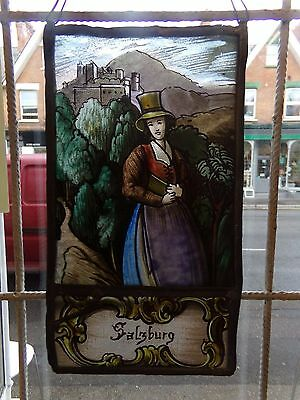 painted stained glass panel