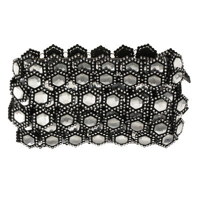 10 Yards Black/White Rhinestone Diamante Chain Crystal Trim Ribbon for DIY Dress
