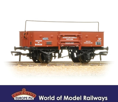 Bachmann 38-452A 13T Open Wagon with Sheet Rail Higher BR Bauxite Late OO Gauge