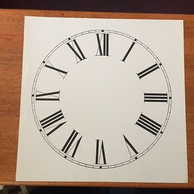 "Spare  paper clock dial 11""  Roman numerals  For any brand clock"