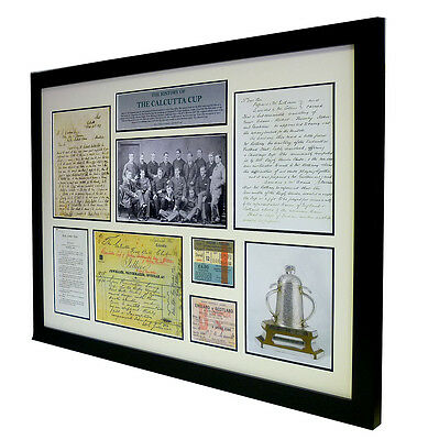 The History of the Calcutta Cup – Large framed Presentation