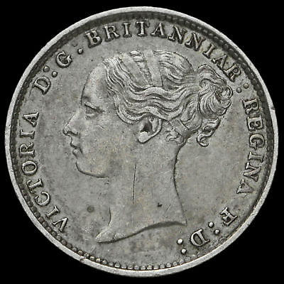 1886 Queen Victoria Young Head Silver Threepence, A/EF