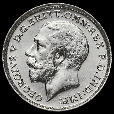 1913 George V Silver Threepence, A/UNC #2