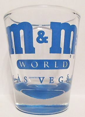 M & M's World,  Las Vegas   Blue Short Shot Glass