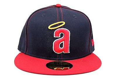 promo code ca818 bd93b California Angels Navy Red White Argent Gold MLB New Era 59Fifty Fitted Hat