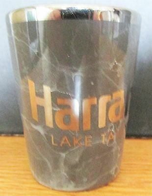 Harrah's  Lake Tahoe  Gray Marbled    Short Shot Glass