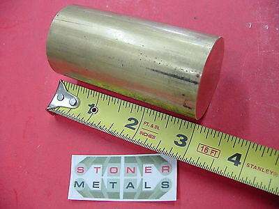 "1-1/2""  BRASS C360 SOLID ROUND ROD 3"" long Lathe Bar Stock 1.50"" OD H02"