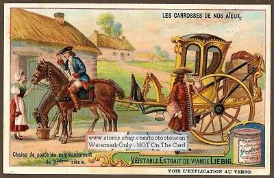 1700s Postal Mail Horse Carriage c1910 Trade Ad Card
