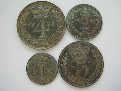 1878 Maundy Set in dated case
