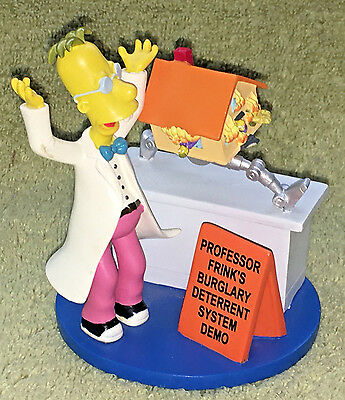 Simpsons Figurine~2005 Hamilton Sculp~Professor Frink~He'll Make You Laugh-Think