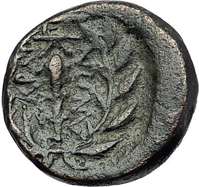 SARDES in LYDIA 133BC Apollo Club Wreath Authentic Ancient Greek Coin i61215