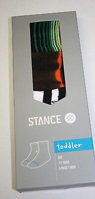 NWT Stance Toddler Boy Chancho Socks - Set of 3 - 1-2 Years - $20