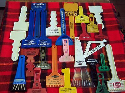 26 Vintage Plastic Window Scrapers Car Truck Automobile Collection advertising