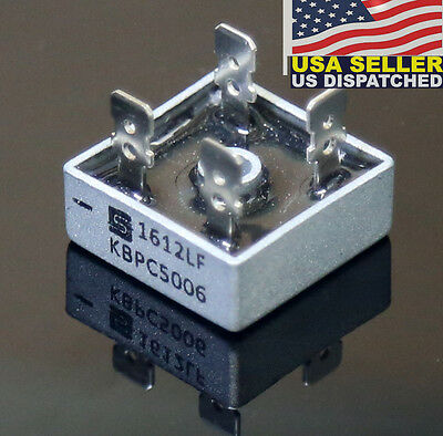 Solid State KBPC5006 Power Bridge Rectifier 50A 600V Metal Case Diode Bridge -