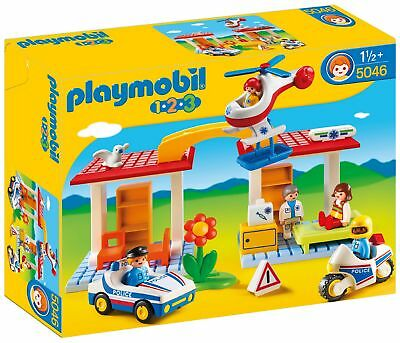 Playmobil 123 Police and Ambulance Playset - 5046 -From the Argos Shop on ebay