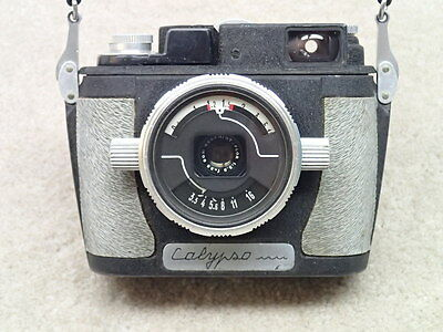 Calypso Vintage Underwater Dive Camera with Som Berthiot Lens Made in France