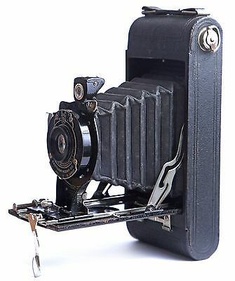 Eastman Kodak Autographic No 1A Pocket Folding Camera 1920-30s, with Case