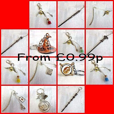 Harry Potter Movie Inspired KEYRINGS, CHARMS, BOOKMARKS, JEWELLERY UK, Wands,
