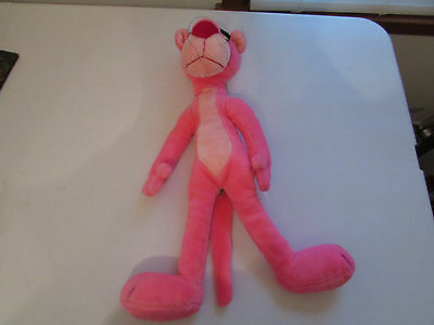 """Pink Panther Plush Stuffed Animal 1980 United Artists Mighty Star 24"""" Vintage"""