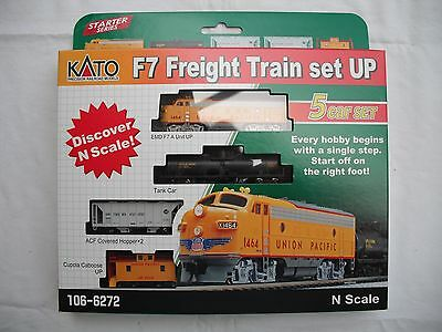 New Kato 106-6272 EMD F7 Union Pacific UP Freight Train 5 unit Set, N Scale