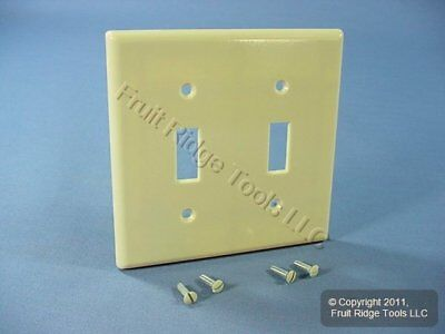 Leviton Ivory EXTRA DEEP 2-Gang Toggle Switch Cover Wall Plate Switchplate 86309