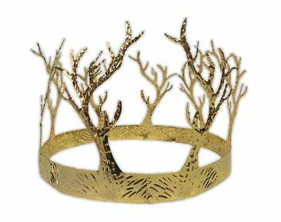 Medieval Gold Kings Queen Crown Game of Thrones Adult Size Renaissance