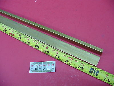 "2 Pieces 1/4"" x 3/4"" C360 BRASS FLAT BAR 24"" long Solid .25""x .75 Mill Stock H02"