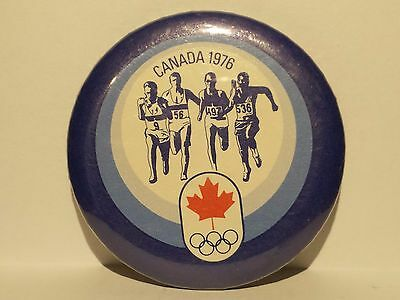 Vintage 1976 Canada Olympic Pinback Button * Track and Field *