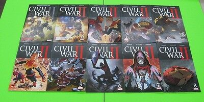 Civil War II  # 0,1,2,3,4,5,6,7,8 and FCBD COMIC 2016 Marvel (IRON MAN THOR)