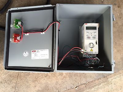 ABB Wall Mount VFD ACS150-03U-02A4-2 w/ Hoffman Sealed Box A12108CH Hoffman Box