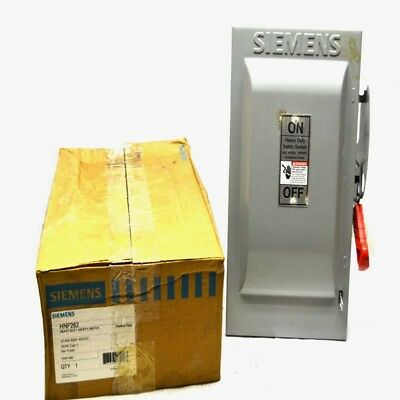 NEW Siemens HNF262 60A 2-Pole Non-Fusible Heavy Duty Safety Switch 600V AC/DC