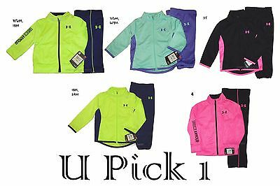 Under Armour Jacket Pant Set Boys Girls Zip up Track Suit Sports Active wear