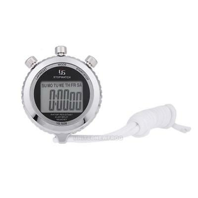 UN3F Chronograph Metal Digital Timer Stopwatch Sports Counter Waterproof Stopwat