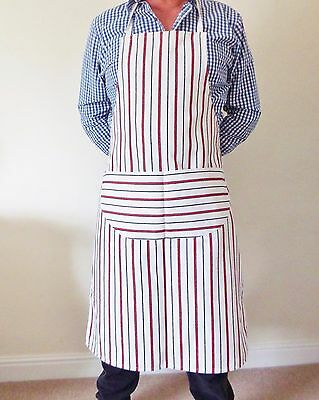 White Red Black Prof Quality Chef Butchers Bistro Cooks BBQ Apron UK made