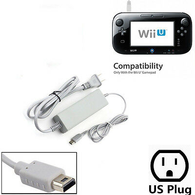 AC Adapter Charger Power Supply Cable Cord for Nintendo Wii U Gamepad