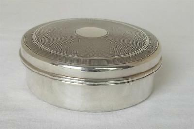 A Stunning Sterling Silver Large Round Lidded Box Birmingham 1947.