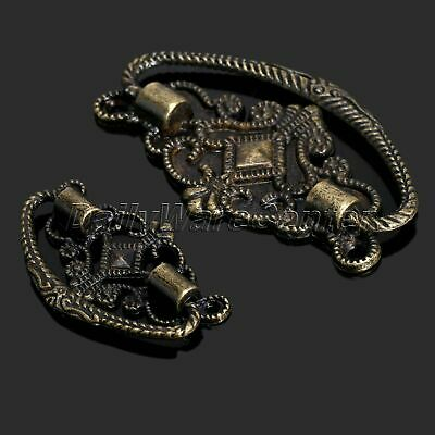 6Pcs Antique Brass Bronze Jewelry Box Pull Knob Retro Drawer Cabinet Door Handle