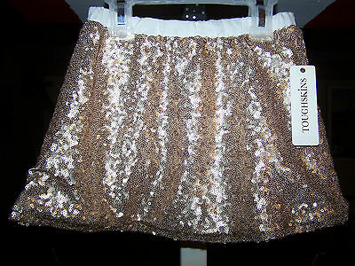 Girls AdorableToughskins Sparkly Skirt Gold Size 3T Awesome For Easter New