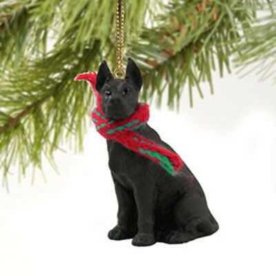 Great Dane Black Dog Tiny One Miniature Christmas Holiday ORNAMENT