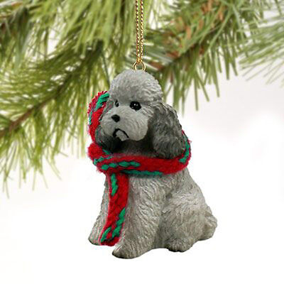 Poodle Sport Cut Gray Dog Tiny One Miniature Christmas Holiday ORNAMENT