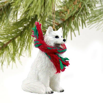 Samoyed Dog Tiny One Miniature Christmas Holiday ORNAMENT