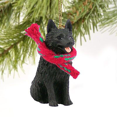 Schipperke Dog Tiny One Miniature Christmas Holiday ORNAMENT
