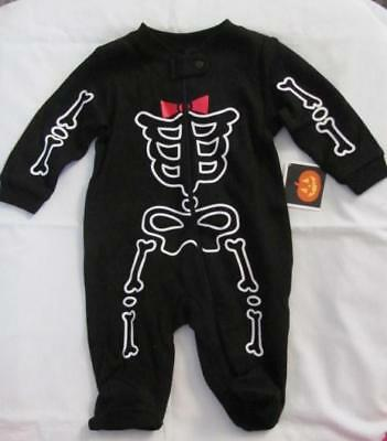 NEW Skeleton Halloween Costume Size Infants 0-3 Months FREE SHIPPING